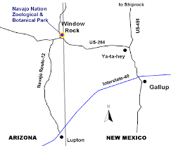 maps Map Northeastern Arizona northeastern arizona, right on the az nm border window rock is 30 minutes north of interstate 40 from lupton, 30 minutes from gallup, nm, map northeast arizona