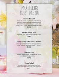 Mother S Day Menu Template 860 Mothers Day Brunch Menu Customizable Design Templates