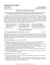 Executive Marketing Manager Cv Template Marketing Manager Resume