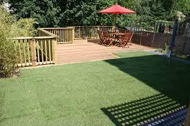decking sloping garden designs