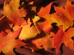 autumn leaves wool penny rug free pattern