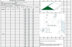 Roofing Estimate Template Download Quantity Takeoff Sheet ...