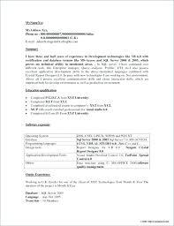 Net Developer Resume Entry Level Dot Net Developer Resume Net