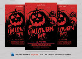 halloween template flyer halloween party flyer flyer templates creative market