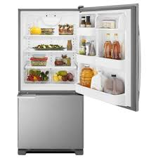 Largest Capacity Refrigerator Abb1921brw Amana 29 187 Cu Ft Bottom Freezer Refrigerator