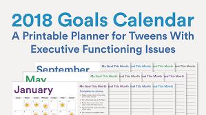write in calendar 2018 2018 printable goals calendar for kids