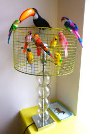on my new and colourful artificial birds it took all of 30 seconds and looks so much more fun i might even get some more wacky birds to add to it