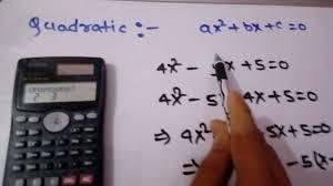 how to solve quarditic or cubic equation in scientific calculator fx 991ms
