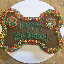 Bone Shaped Birthday Cake Store Pickup Only Just Dogs Gourmet