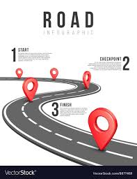 Road Infographic Template Royalty Free Vector Image