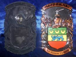 Metal Crest Design Unmounted Family Crest Copper Metal Shield Small