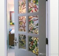 3d magnolia flower stained glass static cling window for etched glass window clings