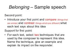 pt speech essay sample speech sample individual persuasive belonging speech sample ppt video online