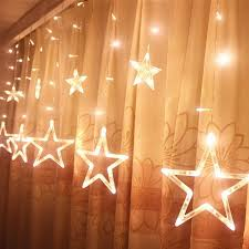 Best Christmas Window Lights Locisne 138 Led Linkable 12pcs Star 1m2m Light Curtain Window Lights With 8 Modes For Christmas Outdoor Indoor Landscape Spotlight New Year Holiday