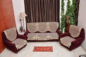 sofa covers. Buy Rshp 5 Seater Maroon Coffee Cotton Sofa Cover Online At Low Prices In India - Amazon.in Covers