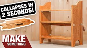 incredible collapsible bookcase you gotta see this woodworking project you