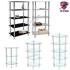 Glass Corner Shelves Uk 100 100 100 Tier Glass Corner Shelf Unit Clear Black Shelves Storage 69