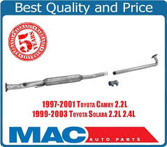 Exhaust Extension Pipe Resonator Fits 97-01 Toyota Camry 99-03 ...