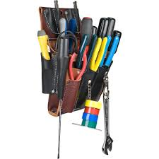 the 5589 electricians tool case by occidental leather is an all leather belt worn commercial electricians