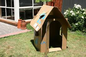 the children s upcycled cardboard box playhouse plan
