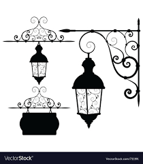 Street Lantern Royalty Free Vector Image Vectorstock Dyi Wood