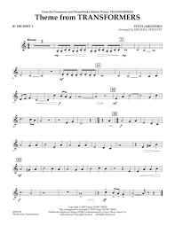 transformers sheet download theme from transformers bb trumpet 1 sheet music by steve
