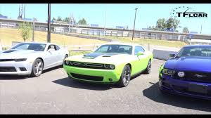 2015 Dodge Challenger R T vs Ford Mustang GT vs Chevy Camaro SS 0 ...