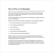 autobiography outline sample example format  how to write an autobiography in pdf format