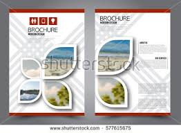 template for advertisement flyer design business brochure template annual stock vector