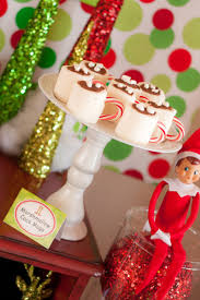 Naughty elf  Marshmallow-Hot-Chocolate Dessert. Great dessert idea for any  christmas party. Lillian