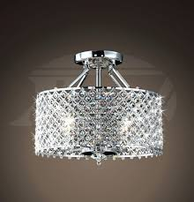 nerisa 4 light chrome semi flush mount crystal chandelier helina chrome and crystal 4 light round ceiling flush mount chandelier 16hx17 flush mount crystal