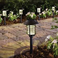 solar led pathway lights outdoor path light garden walkway lamp black 6 pack outdoor led path lights n34
