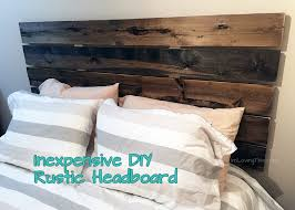 inexpensive diy rustic headboard easy diy headboard