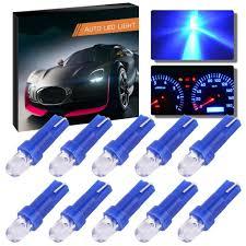 Blue Led Lights For Car Amazon Com Idyandyans 10pcs Blue Led Bulb T5 12v For