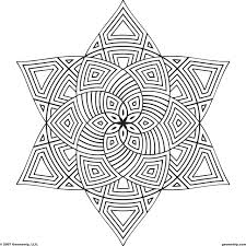 Coloring Page Shape Geometric Designs Coloring Page For Kids ...