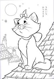 Aristocats Figaro Coloring Pages Print Coloring