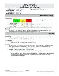 Status Report Format Program Management Status Report Template Program Management Status