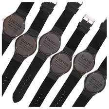 set of 6 groomsmen gift groomsman gifts for wedding wedding favor customized wood watch w wood gift box engraved black leather strap wooden watch