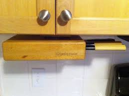 Under Cabinet Knife Holder - The Swivel Oak Block Keeps Them ...