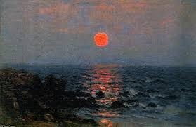painting copy fine art moonlight on the ocean oil on panel by john joseph enneking painting copy fine art moonlight on the ocean oil on panel by john