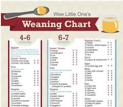 Weaning Chart Print Out This Weaning Chart Charlee Baby Food Recipes