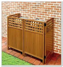 garbage can storage outdoor trash ideas shed plans she
