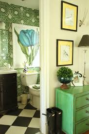 powder room furniture. Room May Be Different But The Black And White Throughout Our Home Creates A Cohesive Look. Accenting With Bold Colors Patterns Are Scattered Powder Furniture