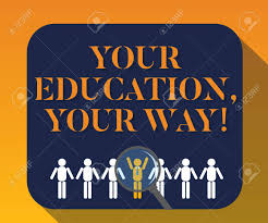 Handwriting Text Writing Your Education Your Way Concept Meaning