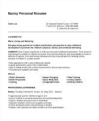 Nanny Resume Cool Basic Nanny Resumes Kenicandlecomfortzone