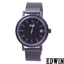 mens watches quartz leather band watch watch with the edwin edwin ew1g001m0084 calendar