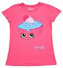 Amazoncom Shopkins I Am Cupcake Chic Youth Girls Hot Pink T Shirt