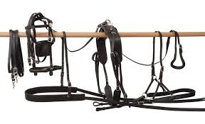 amazon com tough 1 leather harness horse driving equipment horse harness diagram at Horse Harness