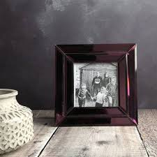 purple mirrored glass picture frame