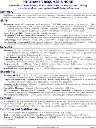 Resume And Job Search Services Best Of HireMaker Resumes More Resume Service For Tampa Orlando